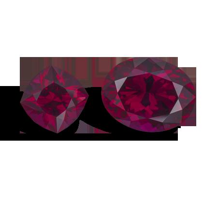 Garnet rhodolite 9.26ct-20.93ct