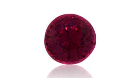Sri Lankan Ruby 1.09ct, Round. Fine quality.