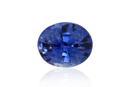 This is a gorgeous 1.97ct, oval, blue sapphire from Sri Lanka